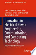 Innovation in Electrical Power Engineering, Communication, and Computing Technology