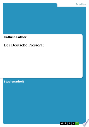 Download Der Deutsche Presserat Free Books - Read Books