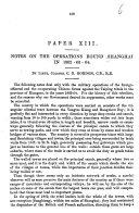 Notes on the Operations round Shanghai in 1862 63 64   Extracted from a series of papers by various authors