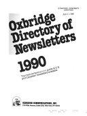 Pdf Oxbridge Directory of Newsletters