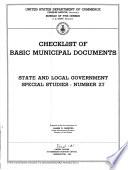 Checklist Of Basic Municipal Documents