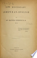 New dictionary Armenian English
