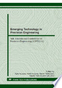 Emerging Technology In Precision Engineering Xiv Book PDF