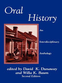 Oral History Pdf/ePub eBook