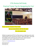 CTEL Review Self Study  Practical Trainer Tips for Navigating the Test