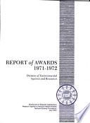 Report of Awards Book