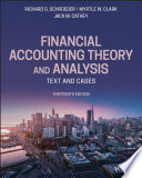 Financial Accounting Theory and Analysis Book
