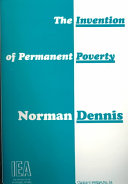 The Invention of Permanent Poverty Book