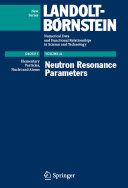 Neutron Resonance Parameters