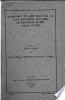 Summaries of Laws Relating to the Commitment and Care of the Insane in the United States