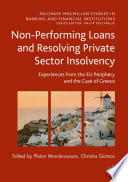 Non Performing Loans and Resolving Private Sector Insolvency Book
