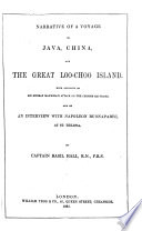 Narrative of a Voyage to Java, China, and the Great Loo-Choo Island