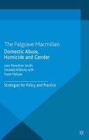 Domestic Abuse, Homicide and Gender Pdf/ePub eBook