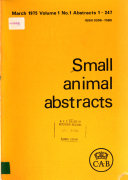 Small Animal Abstracts