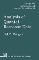 Analysis of Quantal Response Data [Pdf/ePub] eBook