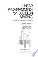 Linear programming for decision making
