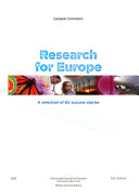Research for Europe Book