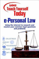 Sams Teach Yourself E Personal Law Today