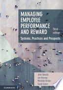 Cover of Managing Employee Performance and Reward