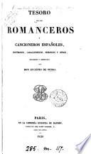 Tesoro de los romanceros y cancioneros espa  oles  recogidos y ordenados por E  de Ochoa Book