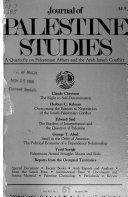 Journal of Palestine Studies Book PDF