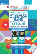 Oswaal Karnataka Sslc Question Bank Class 10 English Iind Language Book Chapterwise Topicwise For 2022 Exam