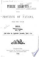 Public Accounts of the Province of Canada