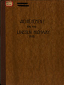 Achievement in the Lincoln Highway, 1920