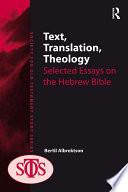 Text  Translation  Theology