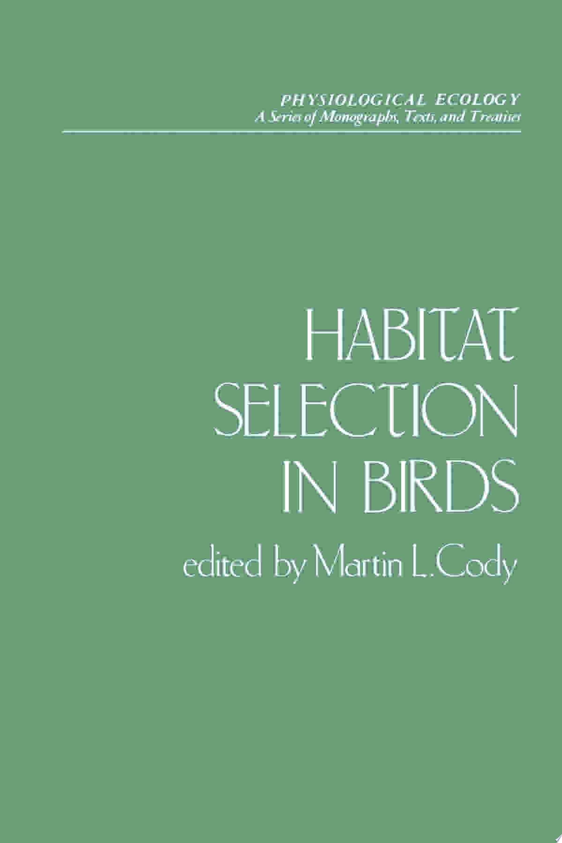 Habitat Selection in Birds