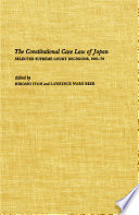 The Constitutional Case Law of Japan