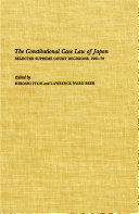 The Constitutional Case Law of Japan [Pdf/ePub] eBook
