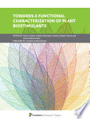 Towards a Functional Characterization of Plant Biostimulants
