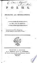 Poems Dramatic And Miscellaneous