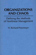 Organizations and Chaos Book