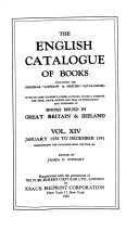The English Catalogue of Books