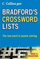 Collins Gem Bradford's Crossword Lists