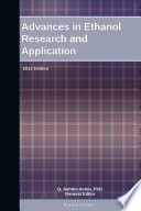 Advances in Ethanol Research and Application  2012 Edition