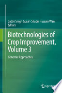 Biotechnologies Of Crop Improvement Volume 3 Book PDF