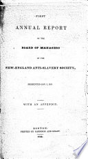 Report of the Board of Managers of the New England Anti-Slavery Society