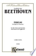 Fidelio  : Vocal (Opera) Score