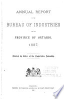 Annual Report of the Bureau of Industries for the Province of Ontario Book