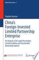 China S Foreign Invested Limited Partnership Enterprise