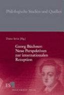 Georg B  chner  Neue Perspektiven zur internationalen Rezeption