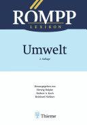 RÖMPP Lexikon Umwelt, 2. Auflage, 2000