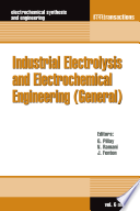 Industrial Electrolysis And Electrochemical Engineering General  Book PDF