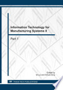 Information Technology for Manufacturing Systems II
