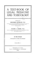 A Text book of Legal Medicine and Toxicology Book