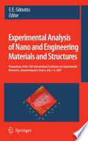 Experimental Analysis Of Nano And Engineering Materials And Structures Book PDF
