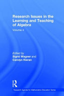 Pdf Research Issues in the Learning and Teaching of Algebra